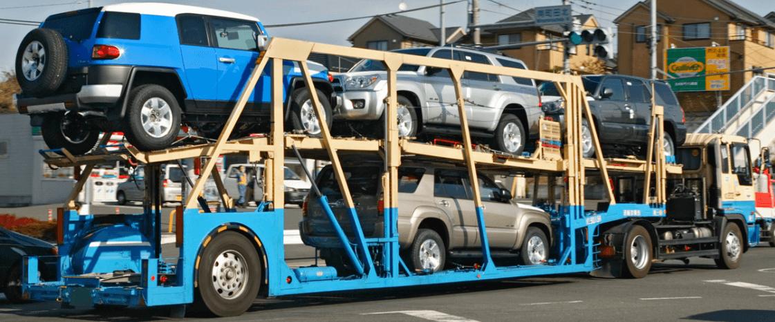 トラックの形状別 車両運搬車