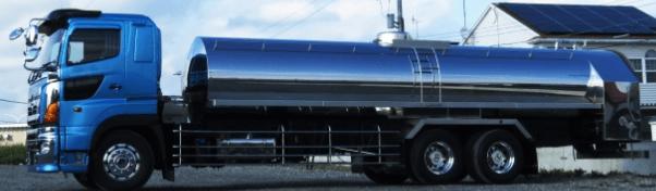 トラックの形状別 タンクローリー