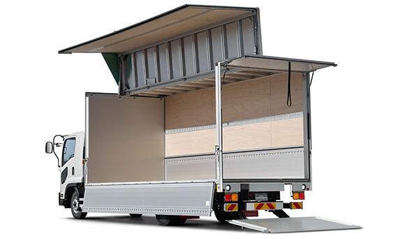 トラックの形状別 ウイングボディーのトラック
