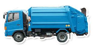 トラックの形状別 ゴミ収集車